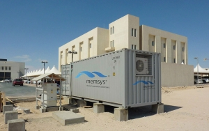 Memsys demonstration plant for thermal (MSF) brine concentration in Qatar